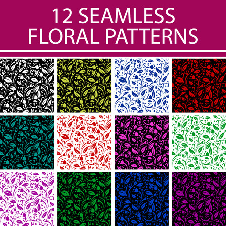 Floral vector seamless patterns. Ornate texture with flowers can be used for wallpaper, pattern fills, web page background,surface textures, wrapping paper. Vector illustration