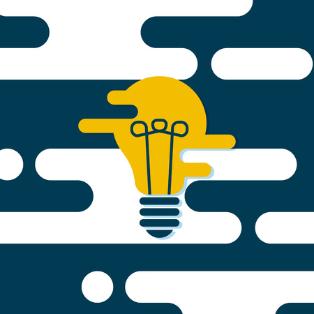 Effective thinking concept: bulb icon with innovation idea. Vector icon. Flat design illustration