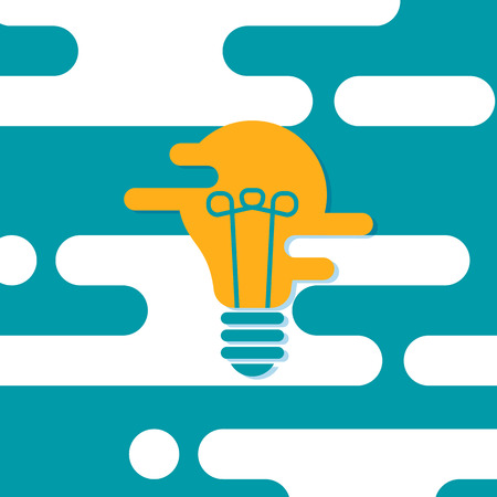 Creative idea in light bulb shape as inspiration concept. Vector design element. Flat design illustration.
