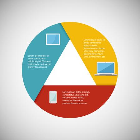 Modern infographics illustration IT tehnology.  Ilustração