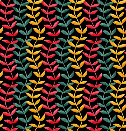 Seamless floral watercolor pattern with retro colors.