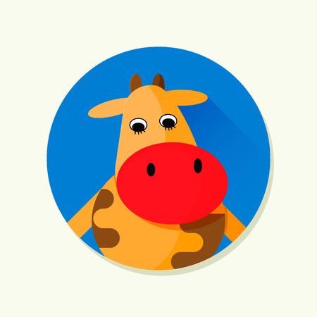 Vector illustration of cartoon cow. Character illustration