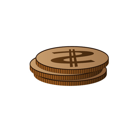 Money coins vector illustration. For web design and apps
