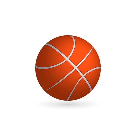 Vector Basketball ball isolated on a white background. Fitness symbol