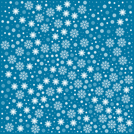 blue snowflakes: Vector seamless pattern with snowflakes. Blue background. Vector illustration Festive Christmas and New Year seamless snowflakes pattern. Winter endless background