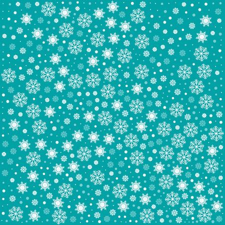 copo de nieve: Modelo incons�til del vector con los copos de nieve. Fondo azul claro. Ilustraci�n vectorial festiva de Navidad y A�o Nuevo patr�n de copos de nieve sin fisuras. Invierno fondo sin fin Vectores