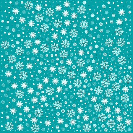 Vector seamless pattern with snowflakes. Light blue background. Vector illustration Festive Christmas and New Year seamless snowflakes pattern. Winter endless background