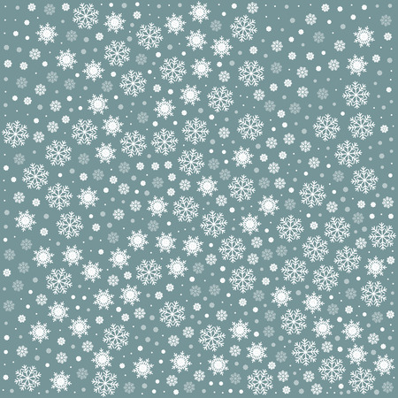 Vector seamless pattern with snowflakes. Grey background. Vector illustration Festive Christmas and New Year seamless snowflakes pattern. Winter pattern