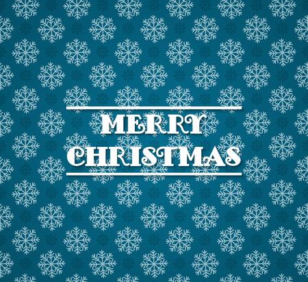 Vector seamless pattern with snowflakes or blue background. Blue and white christmas seamless texture. For web and print design. Winter and christmas theme. For wrapping paper
