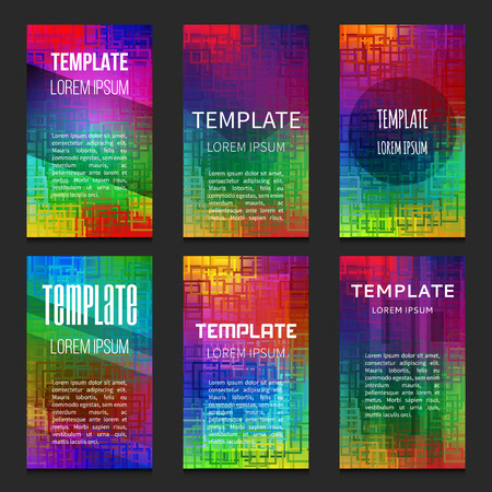 Modern design vector template. Can be used for brochures, newsletters, mail, web, infographic, flyer, marketing and advertising. Set of UI templates.