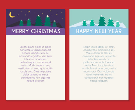 Christmas and New Year holidays vector template.