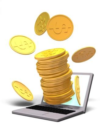 PC とコイン 写真素材 - 9093197