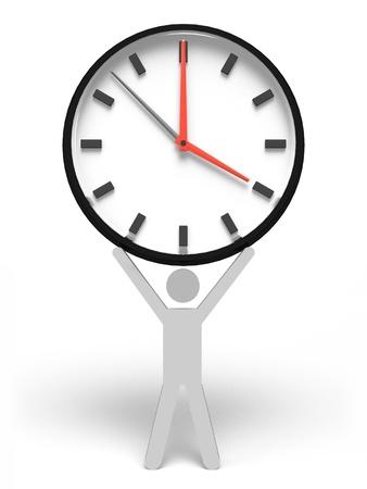 大時計を持っている人間 写真素材 - 9351707