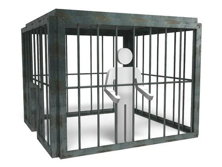 囚人 写真素材