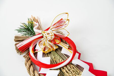 Japans New Year Ornament on White Background