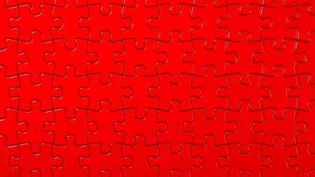 Red Jigsaw Puzzle 写真素材