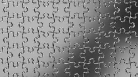 Silver Jigsaw Puzzle 写真素材