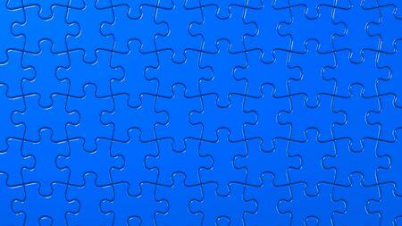 Blue Jigsaw Puzzle 写真素材