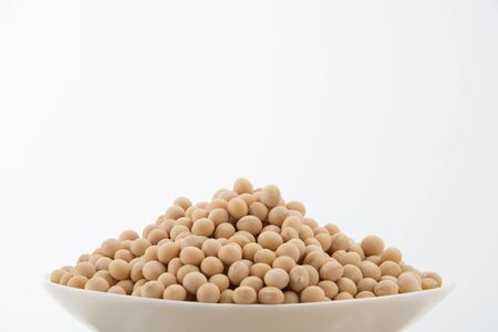 Soy bean on white background
