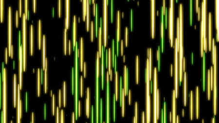 Yellow and green speed light abstract background. 写真素材