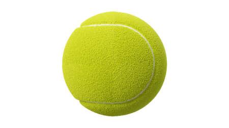 Tennis ball on white background. 3d illustration for background.