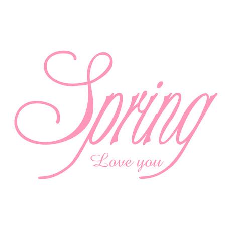 Spring love you 向量圖像