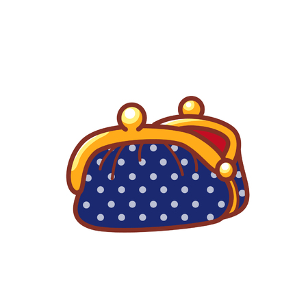 Cute coin purse Illustration