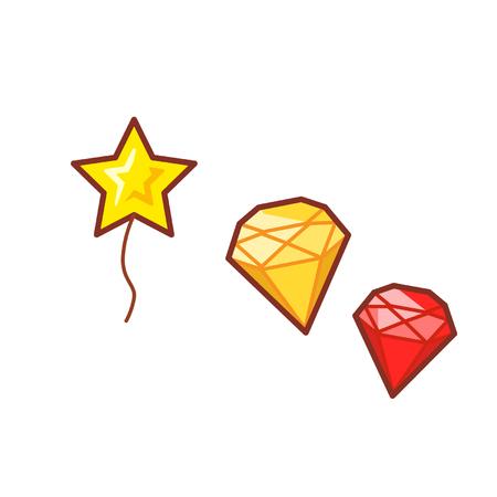 Balloon and diamonds
