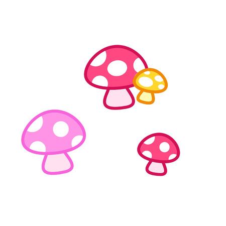 Spotted mushrooms Çizim