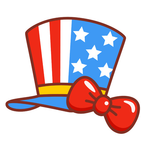 American flag top hat Illustration
