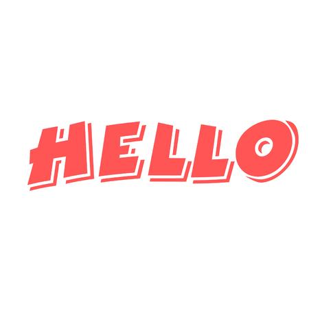 Hello greeting design