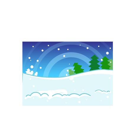 Winter snow background theme Çizim