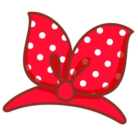 Cartoon ribbon hairband Illustration
