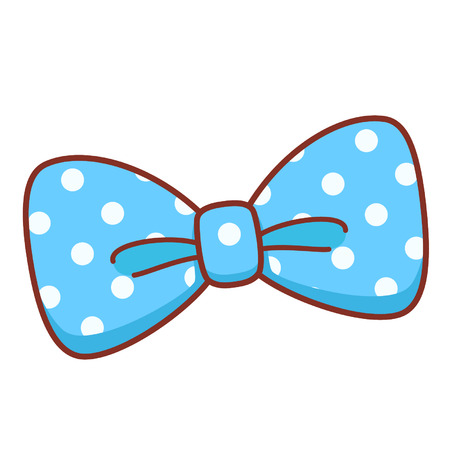 Cartoon blue bow 矢量图像
