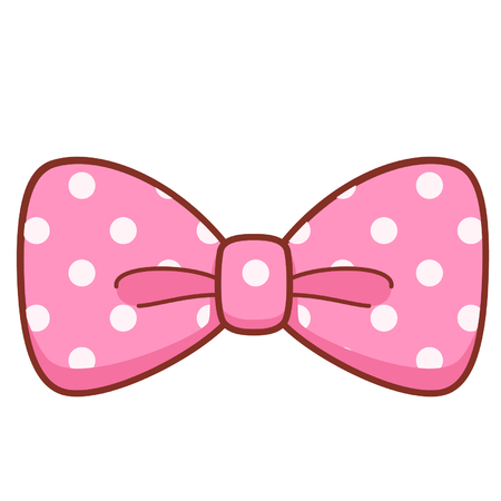 Cartoon pink bow