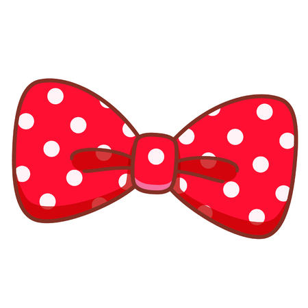 Cartoon red bow