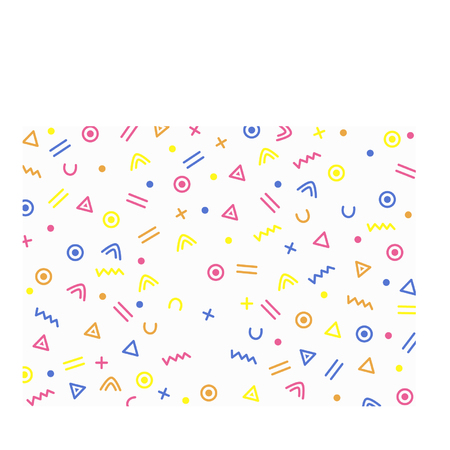 Cartoon squiggle and shapes background Vettoriali