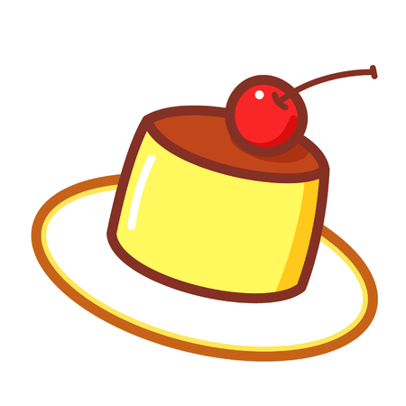Cartoon creme caramel