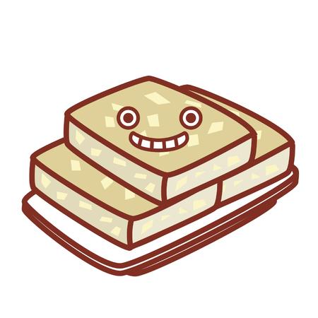Cartoon dessert character 矢量图像