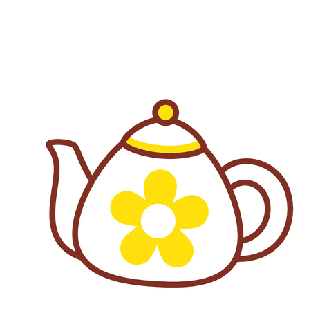 Cartoon teapot