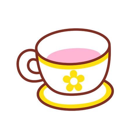 Cartoon teacup Çizim