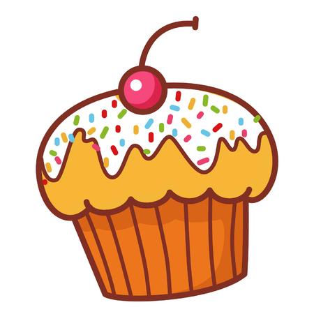 Cartoon cupcake Иллюстрация