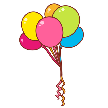 Cartoon helium balloons
