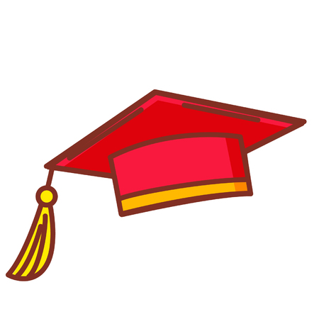 Cartoon graduation hat