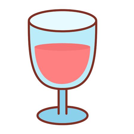 Cartoon wine glass