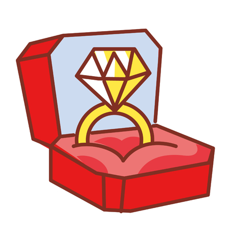 Cartoon diamond ring