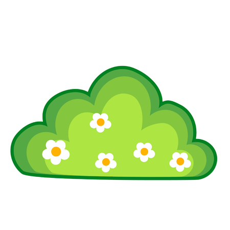 Cartoon bush with flowers Illustration