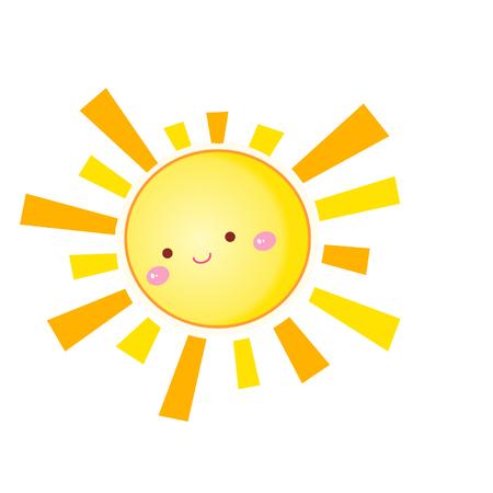 Cartoon cute sun