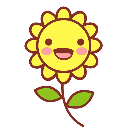 Cartoon cute flower