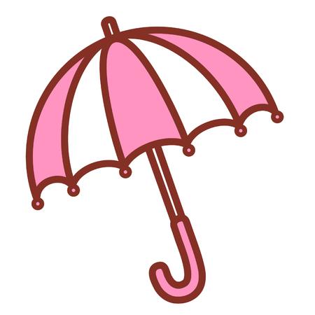 Cartoon umbrella Vettoriali